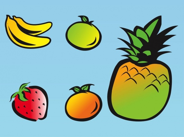 Cartoon Fruit vector illustrations