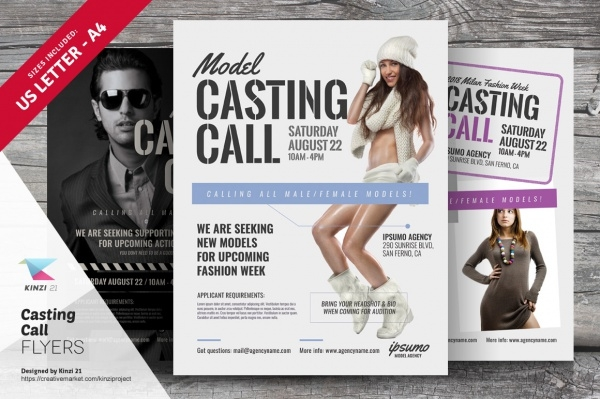 Casting Call Talent Show Flyer Template