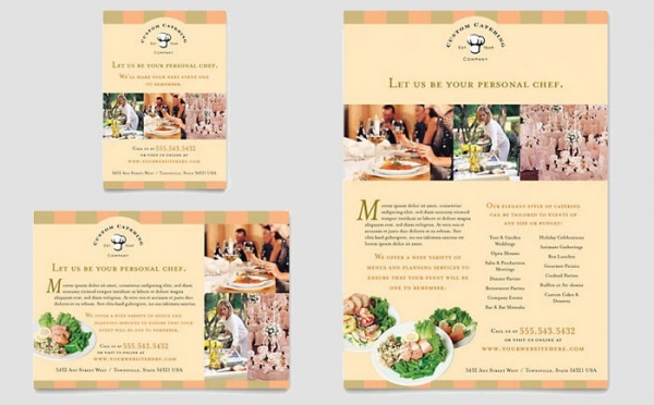 catering company flyer design template