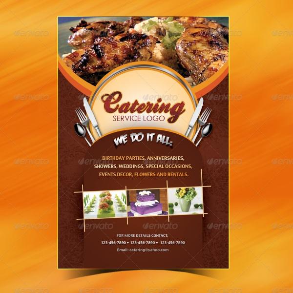 Catering Menu Flyer Design