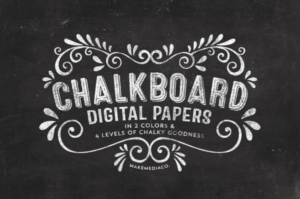 Chalkboard Digital Paper Texture