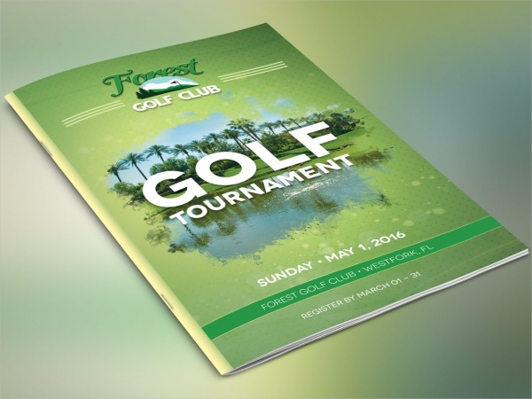 25 golf tournament brochures psd vector eps jpg for Golf tournament program template
