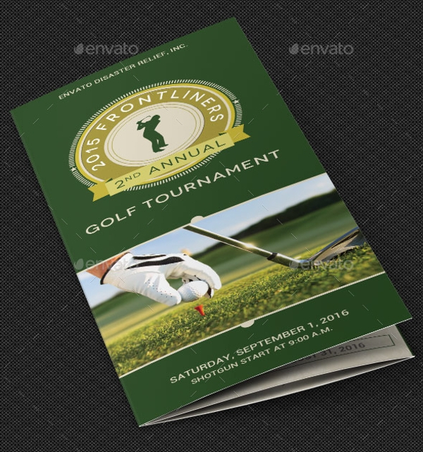 Charity Golf Tournament Brochure