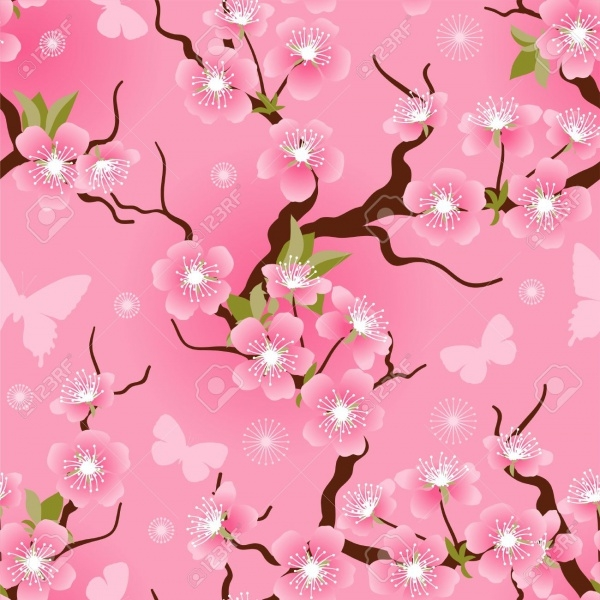 Cherry Blossom Flowers For Photoshop