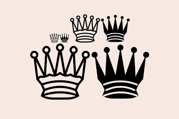 Chess Queen Crown clip art