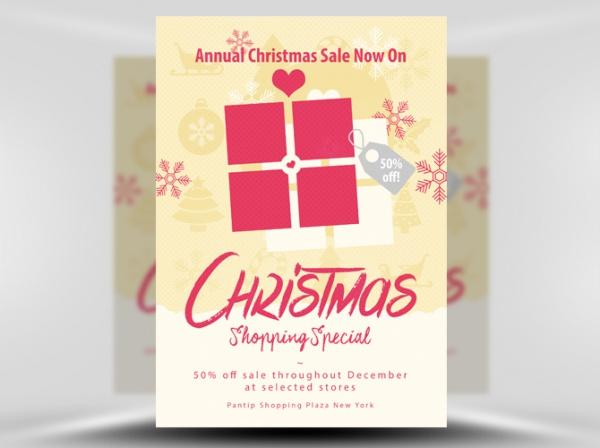 Christmas Product Sale Flyer