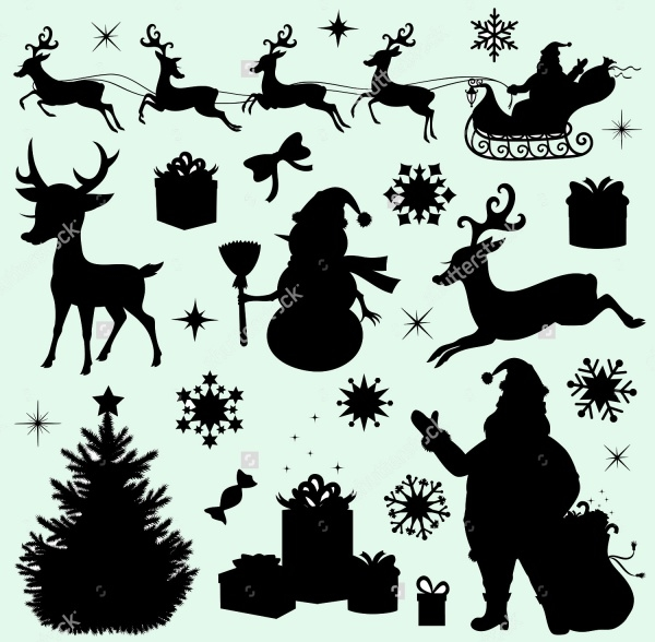 Christmas Silhouettes Vectors