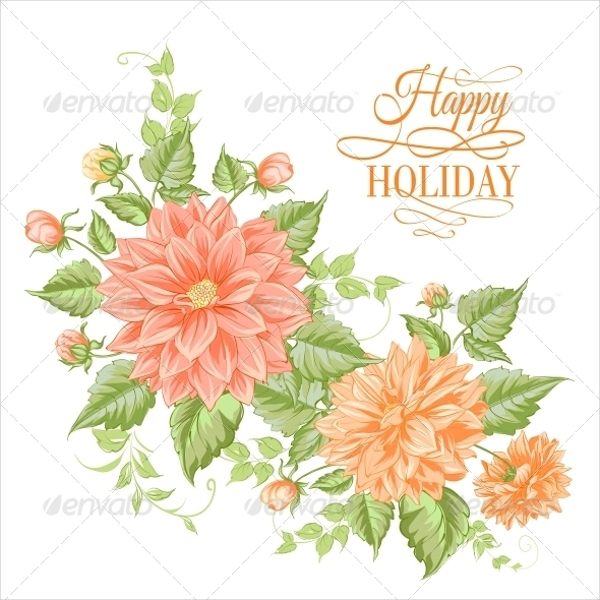 Chrysanthemum Holiday Card Design