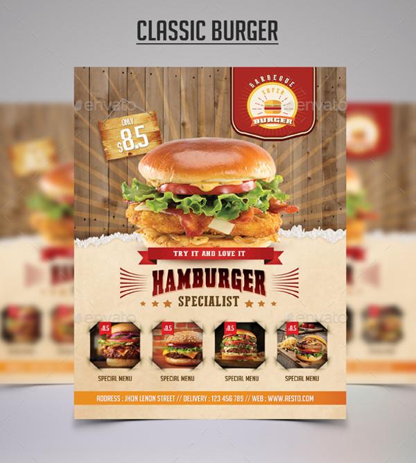 Clasic Burger Flyer Design