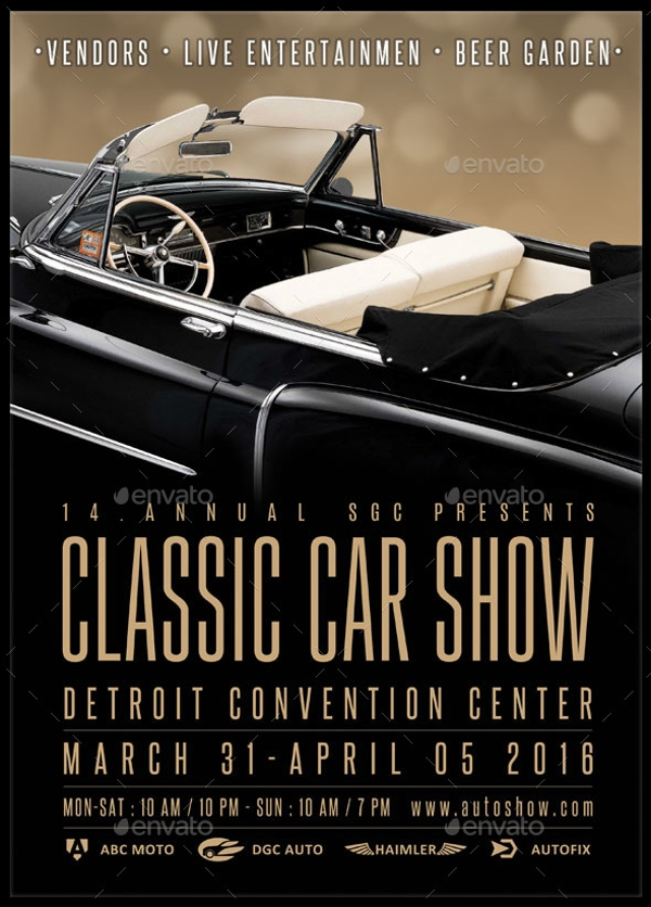 26  modern car show flyer designs  u0026 creatives ai docs psd