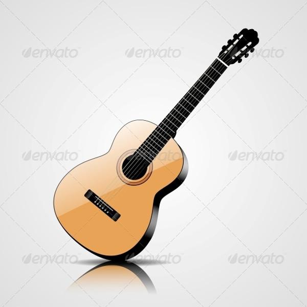 Classic Guitar Vector