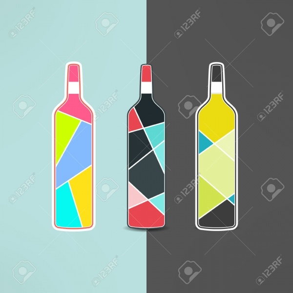Classic Wine Bottle Vector