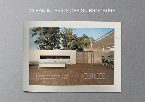 Clean Interior Brochure Design