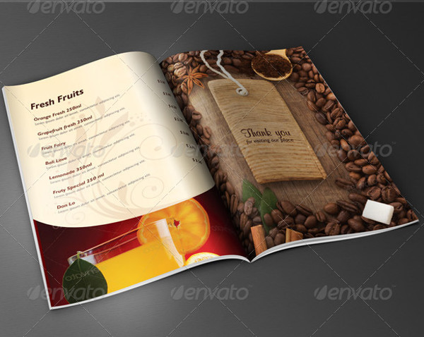 Coffee Menu Brochure Design