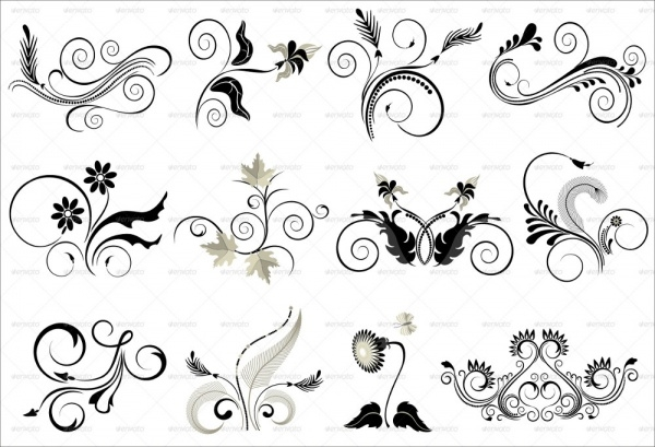 Collection Flourish Pattern Designs