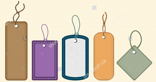 Collection Of Clothes Tag Design