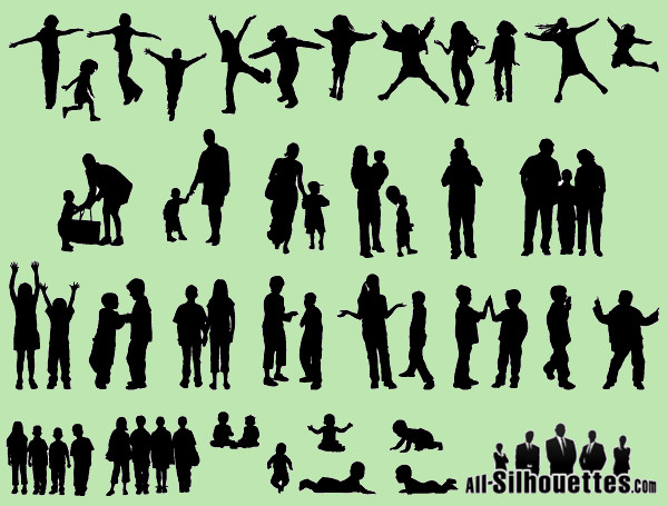 Collection Of Human Silhouettes