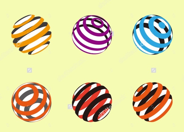 Collection Of Ribbon Ball Vectors