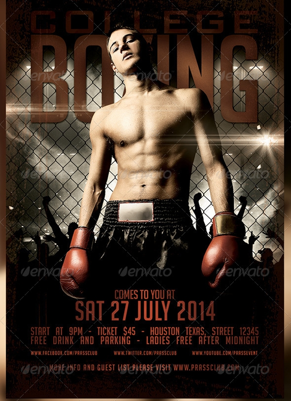 College Boxing Flyer Design