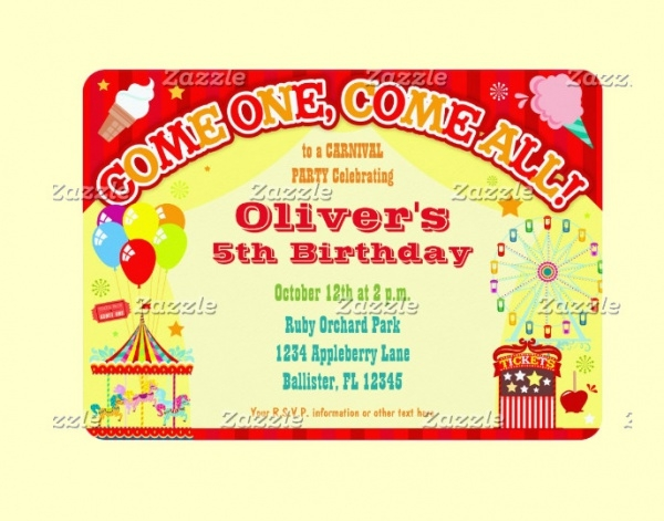 Colorful Carnival - Custom Invitations