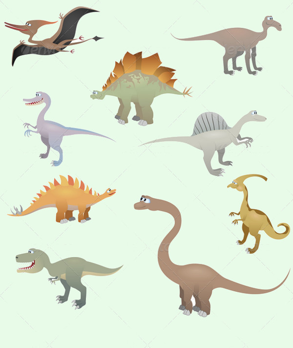 Colorful Dinosaur Clipart