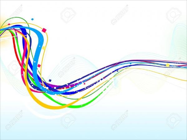 Colorful Line Illustration Vector