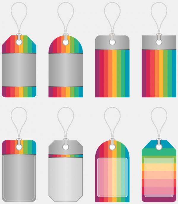 Colorful Ribbon Price Tag