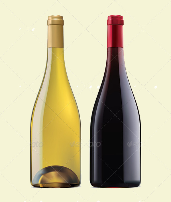 Colorful Vector of Wine Bottle