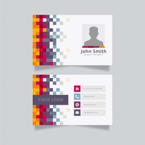Colorful Creative Business Name Card