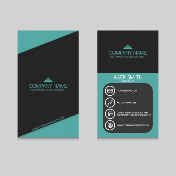 coloured business card design template