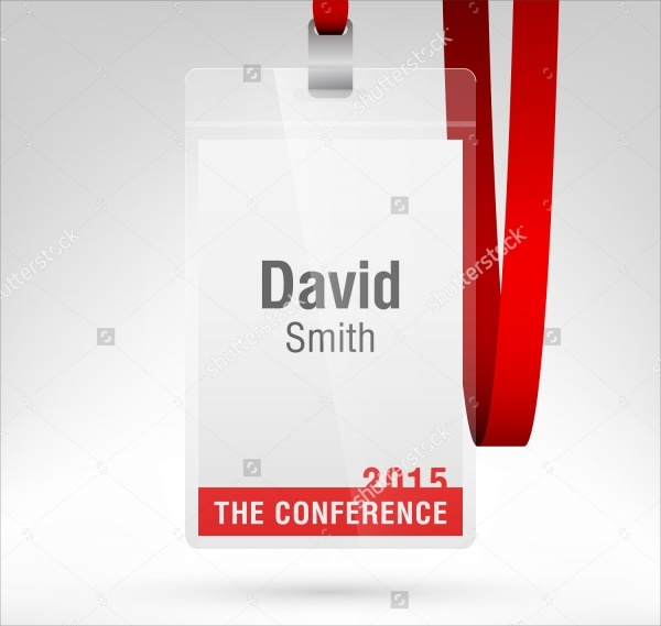 Conference Name Badge Tag Design