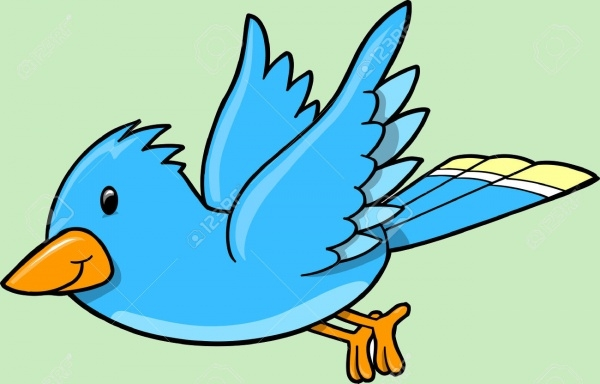 Cool Blue Bird Illustration