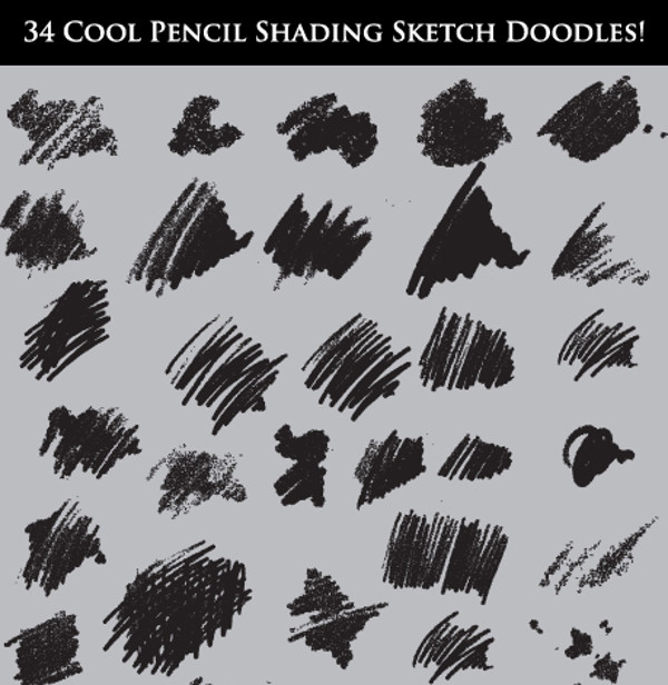 Cool Pencil Shading Sketch Brushes