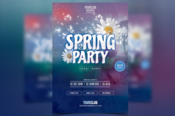 Spring Flyer Templates  Psd Vector Eps Jpg Download