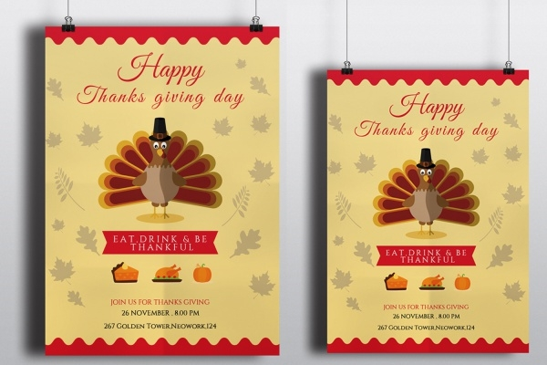 Cool Thanksgiving Invitation Template