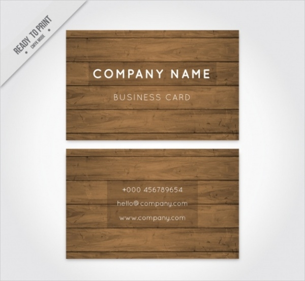 Corporate Business Card With White Letters