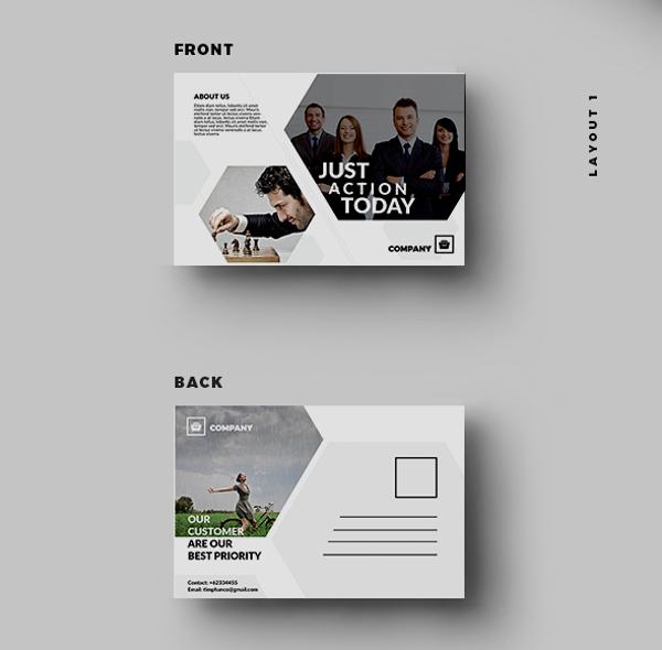 Corporate Business Postcard Template Design