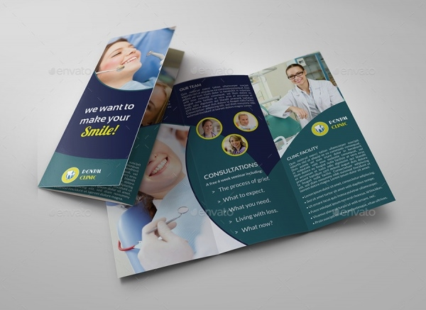corporate dental indesign brochure