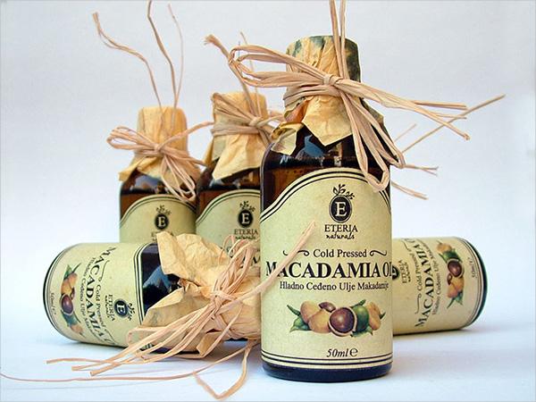 Cosmetic Oil Label Design