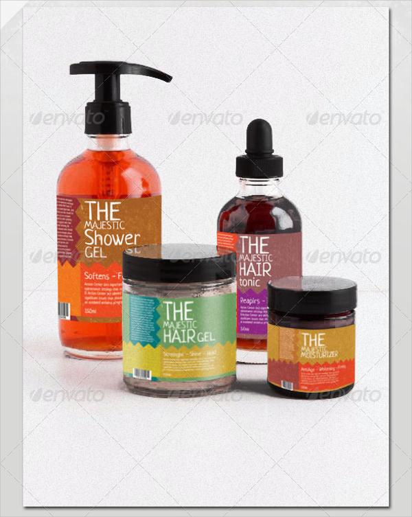 Cosmetics Bottle Label Set