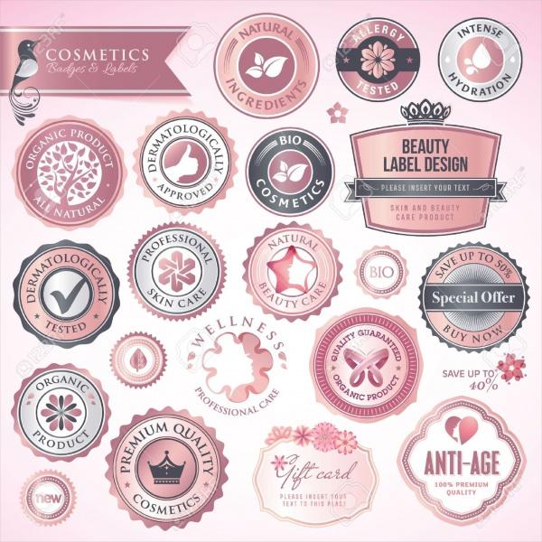 Cosmetics Labels & Badges Design