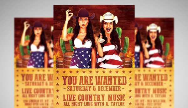 Country Club Flyer Template