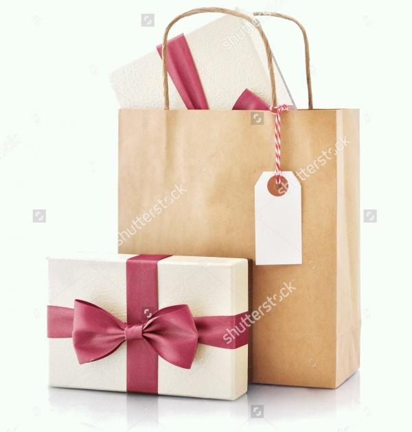 Creative Brown Paper Bag Tag