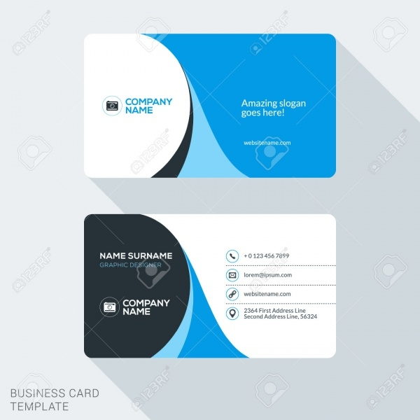 Creative & Clean Corporate Business Card Template