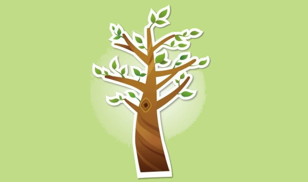 Creative Cool Tree Illustration