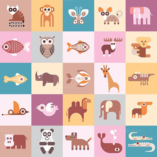 Creative Different Animals illustrations