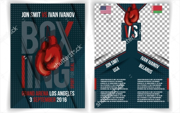 Creative Stylish Boxing Flyer Design