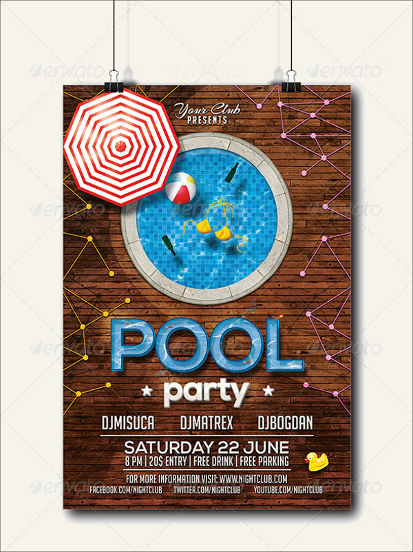 creative swimming party invitation
