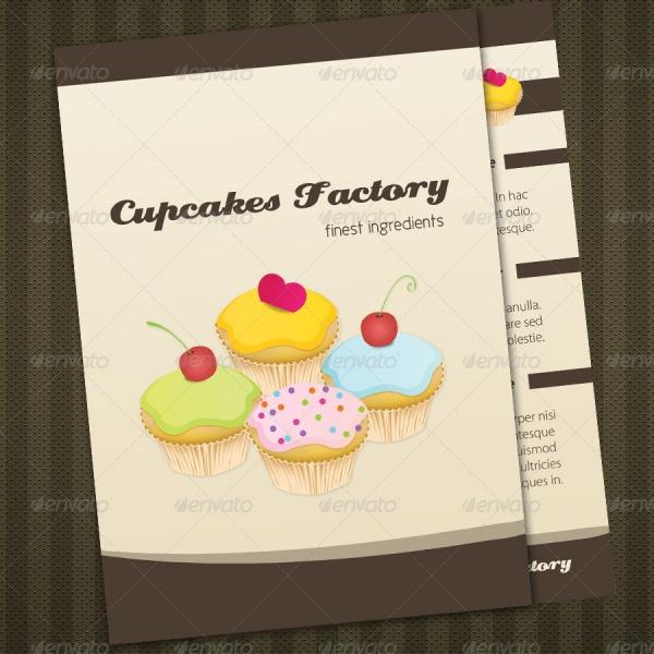 Cupcakes Bakery Menu Brochure