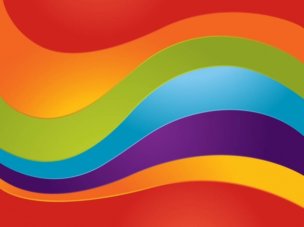 Curved Rainbow Vector Design